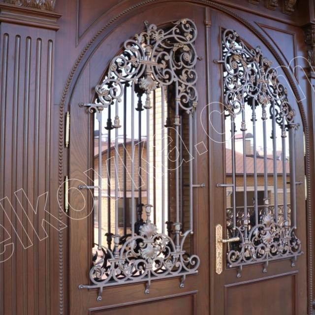 Ковані двері зі склом