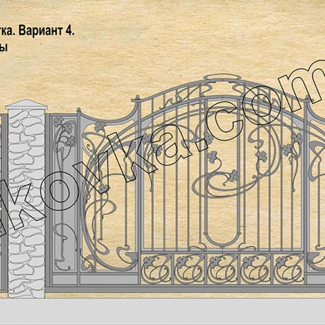 Проект кованих воріт Романків, Київська область