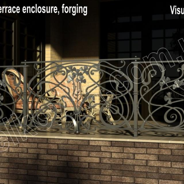 Візуалізація кованої огорожі