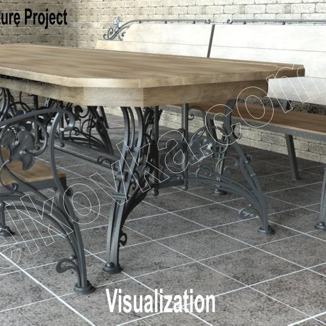 Ковані садові меблі