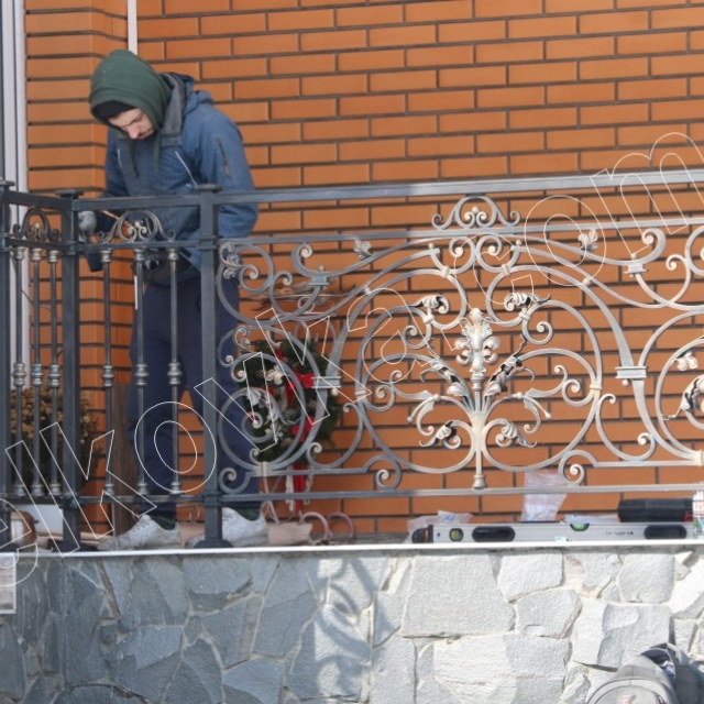 Перила на терасі з металу