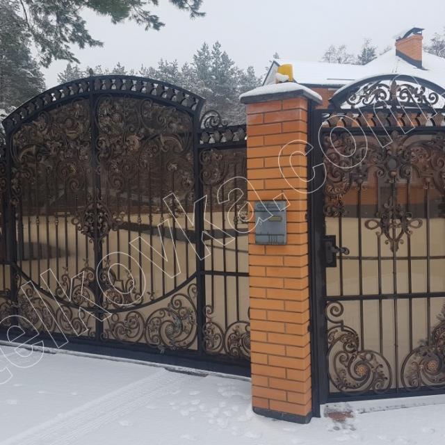 Ворота ковані та хвіртка