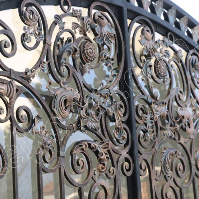 Ворота кування полікарбонат