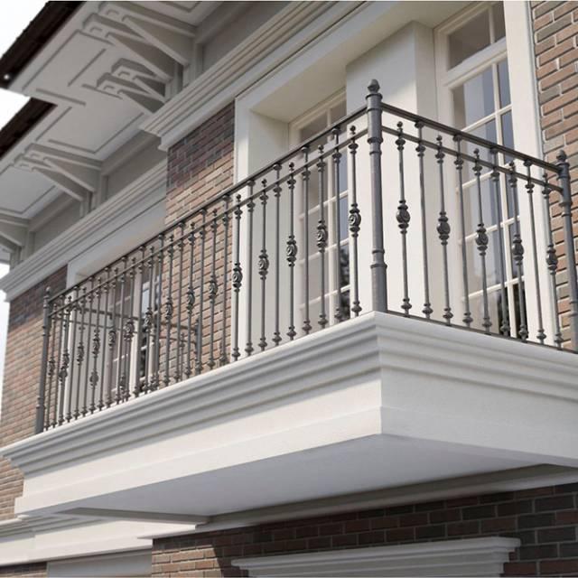 Перила на балконі з металу